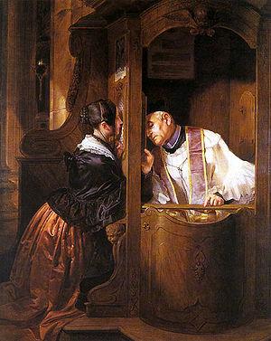 """G. Molteni """"La confessione"""", 1838"""